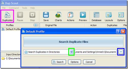 Dup Scout Freeware metodo di ricerca file duplicati
