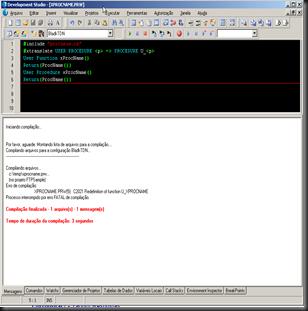 Protheus : IDE : Erro de Compilação