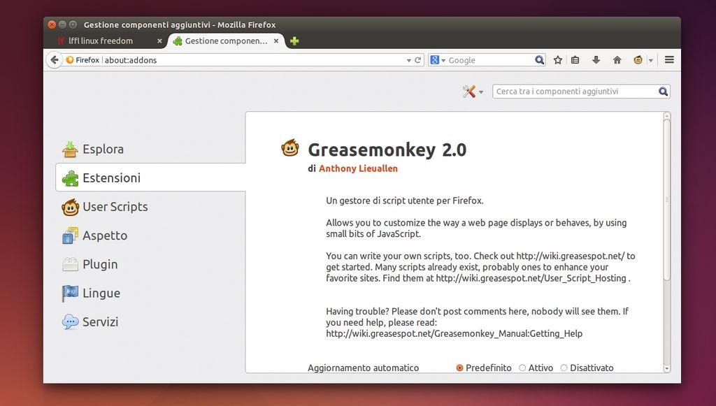 Greasemonkey 2.0 in Firefox