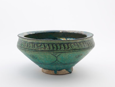 Bowl | Origin:  Syria | Period: 12th-14th century | Details:  Not Available | Type: Stone-paste decorated with glaze | Size: H: 12.8  W: 26.7  cm | Museum Code: F1906.230 | Photograph and description taken from Freer and the Sackler (Smithsonian) Museums.