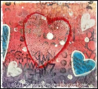 Overflowing Heart closeup lattice