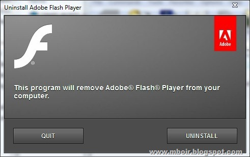flash palyer uninstaller mboir