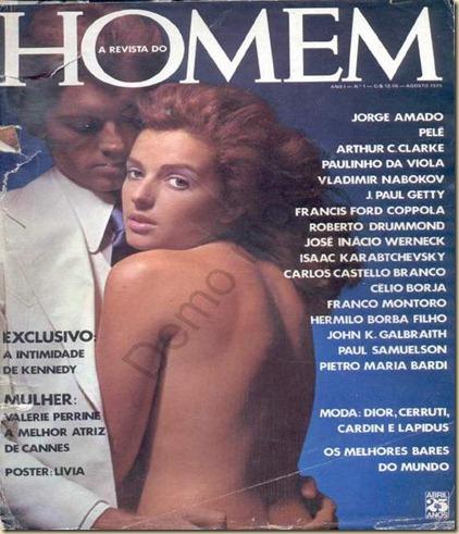 Confira as fotos da modelos Lívia Mund e Valerie Perrine, capa da revista Homem, Agosto de 1975!