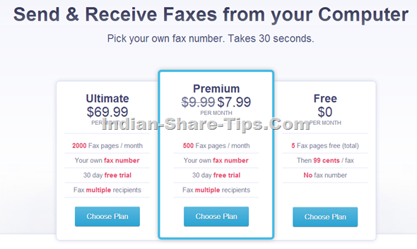 Free International fax