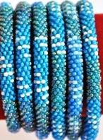 rollover bracelet blue white stripe