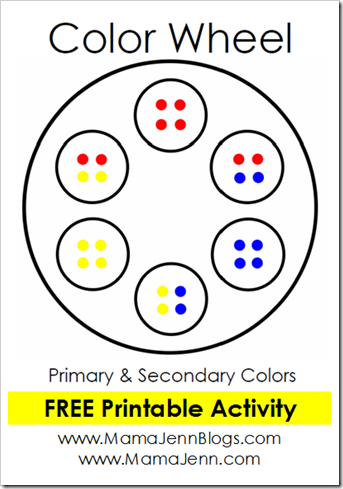 FREE Printable Color Wheel Activity
