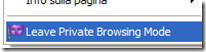 Leave Private Browsing Mode - Open in Private Browsing Mode