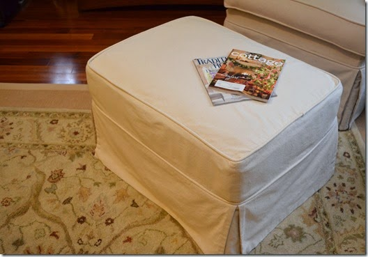 drop cloth ottoman