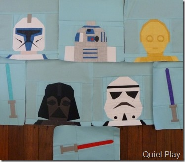 Paper Pieced LEGO Star Wars blocks so far