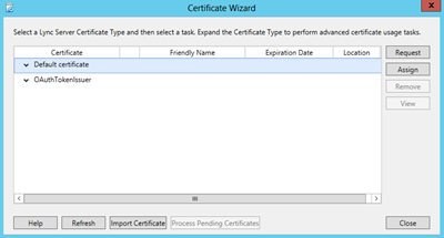 cert wizard
