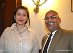 Reader Chetna Gola&#039;s husband, Yatin met Manisha Koirala at the Indian Embassy in Washington DC during the South Asian Film Festival last month.</p>