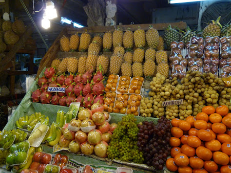 Fructe exotice Thailanda: Piata de fructe Pattaya