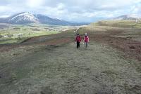 Walking up Walla Crag
