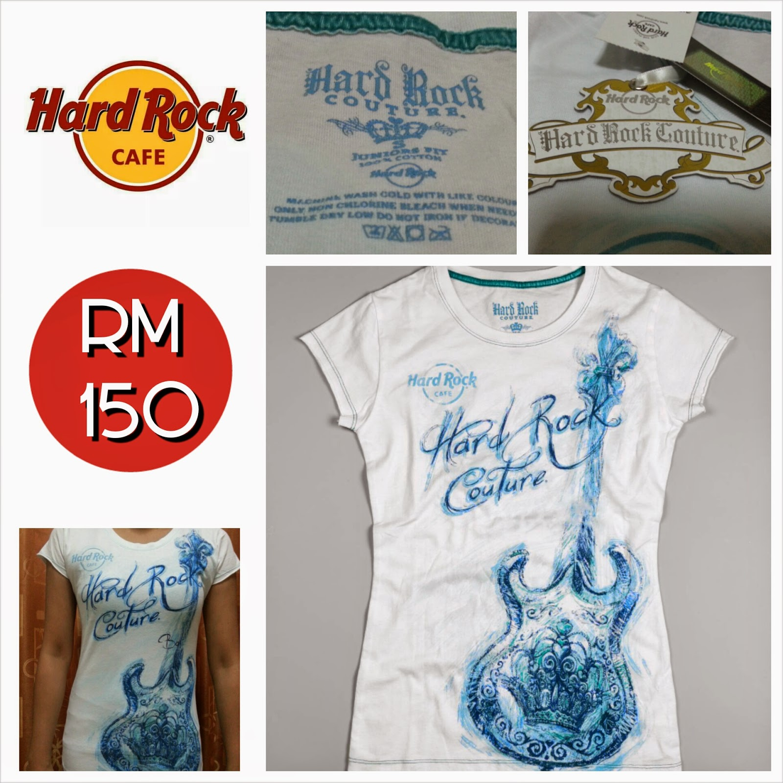 hard rock cafe bali jr couture guitar women 39 s t shirt. Black Bedroom Furniture Sets. Home Design Ideas
