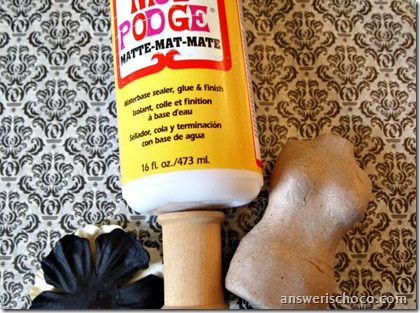 Mod Podge Mini Dress Form