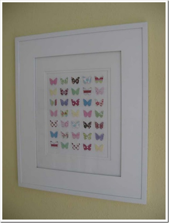 DIY 3-D Butterfly Wall Art 12
