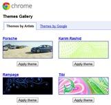 Halaman galeri theme Google Chrome