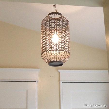 DIY birdcage chandelier/Moroccan lantern