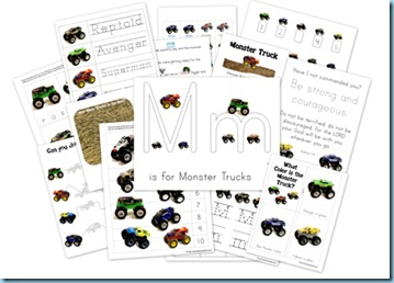 Monster Trucks Printables
