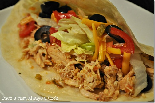 Once a Mom Always a Cook: Shredded Chicken Tacos