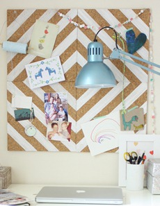 Painted Corkboard - The Happy Home