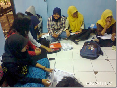 Rapat panitia TRY OUT SBMPTN HIMAFI FMIPA
