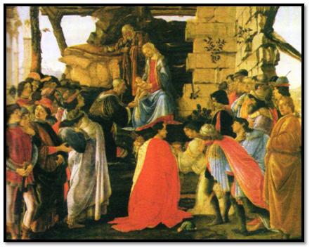 Sandro Botticelli, Adoración pintada hacia 1475