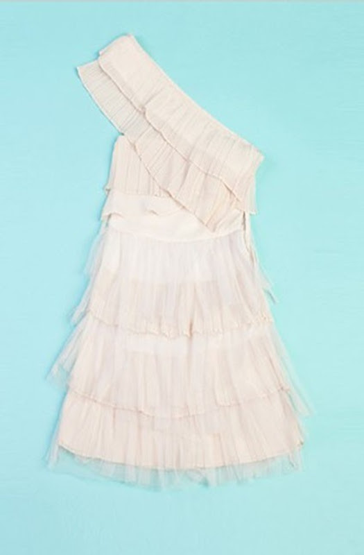 sweet-double-layered-flouncing-one-shoulder-cake-dress