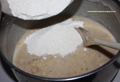 Banana Apple Bread - mixed - gradually add Dry Ingredients B