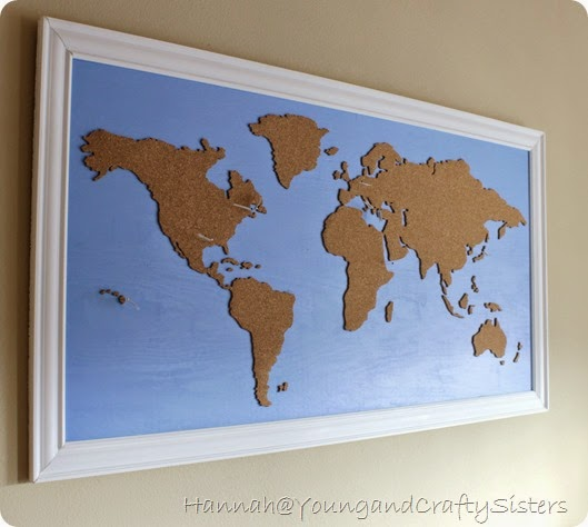 Maps update 600500 cork board world travel map world map cork young and crafty sisters diy framed cork board world map cork board world travel map gumiabroncs Choice Image