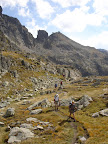 Walking the HRP in Andorra towards the Col du Juclar with the Cylindre d