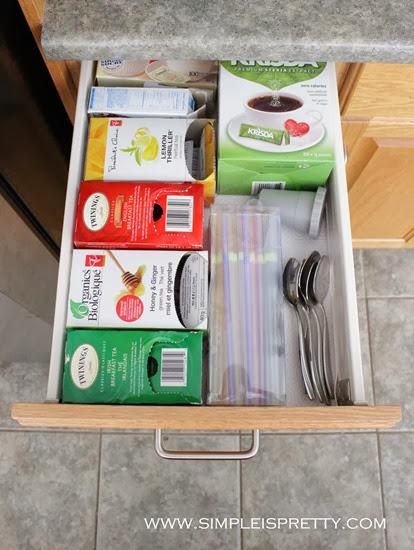 Inside Coffee Station Drawer  from www.simpleispretty.com
