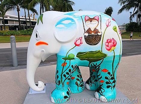 Vivocity Singapore Grand Patron Elephant Parade exhibition