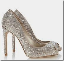 Karen Millen Crystal Peep Toe Platform