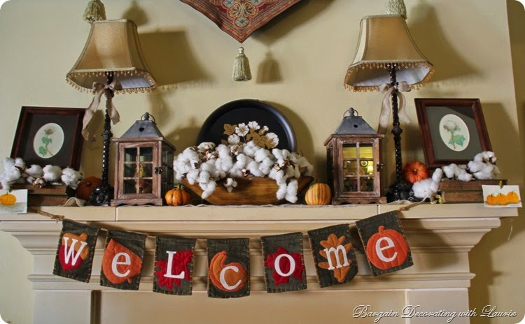 Fall Transtion Mantel