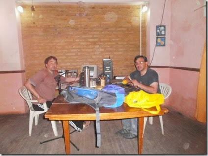 Andres Sarlengo y Sandro Arrien en FM Radio Union - San Eduardo