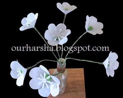 My Hobbies Six Petal White Flower Tutorial