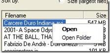 DriveSort aprire il file o la cartella nella quale risiede