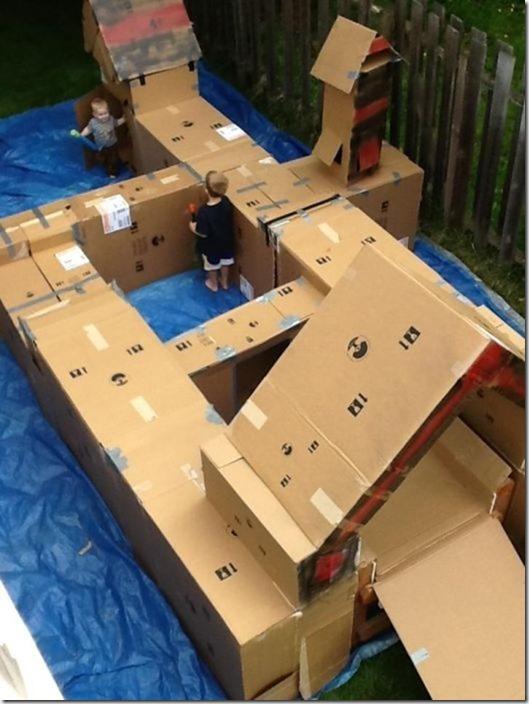 Como fazer um playground com caixas de papelão vazias (6)