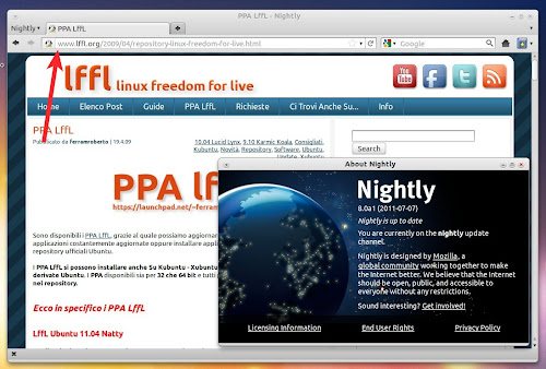 Firefox 8.0 Nightly