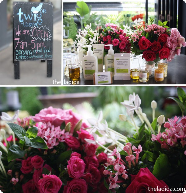 Neutrogena Naturals Australia Blogger Launch - Range - Twig Cafe Surry Hills - Roses