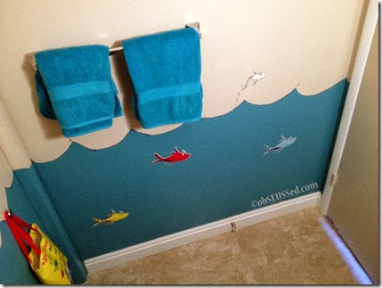 One Fish Two Fish Bathroom wall obSEUSSed