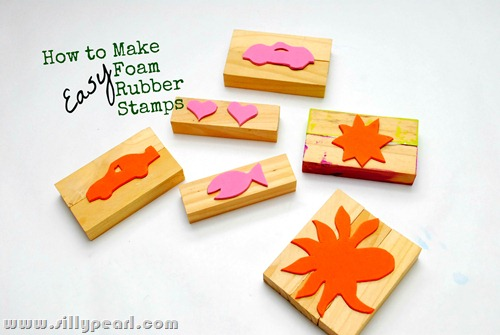 How to make easy foam rubber stamps