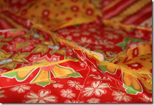 Rag Quilt Yellow and Red 015