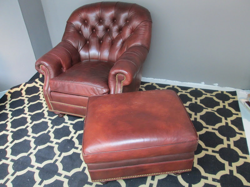 Hancock & Moore Lounge Chair & Ottonman