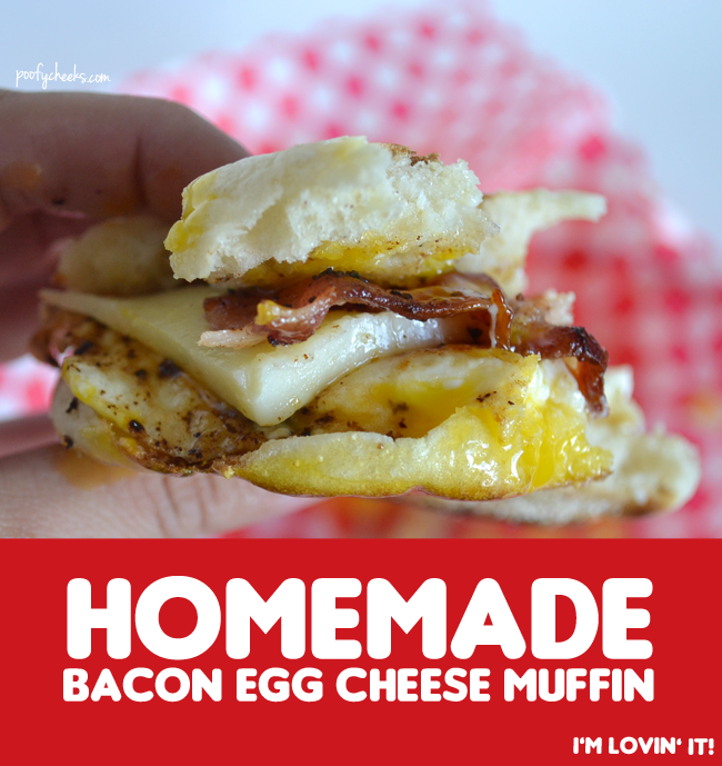 Homemade Bacon Egg Cheese Muffin
