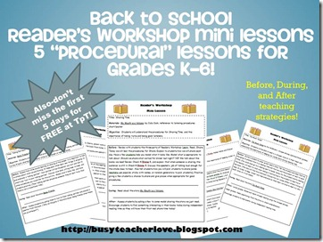 lessons 6 to 10 readers workshop