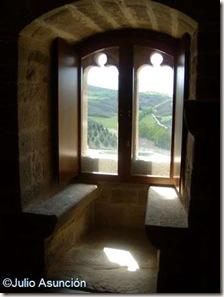 Interior de una ventana geminada