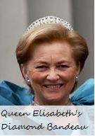 Queen Elisabeth's Diamond Bandeau Tiara