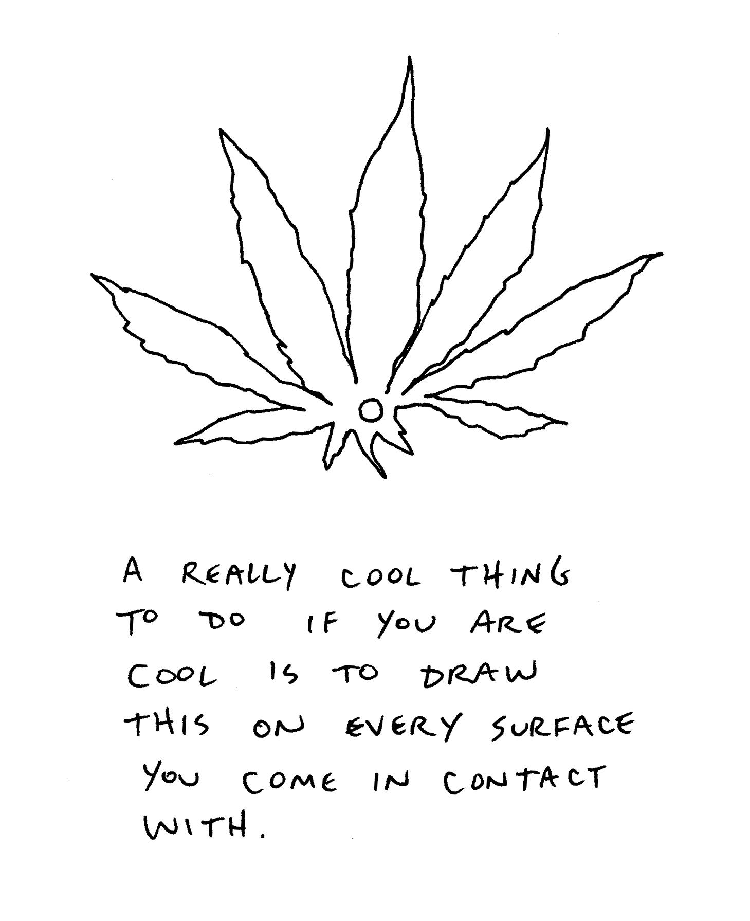 Cool Weed Leaf Drawings Cool marijuana leaf